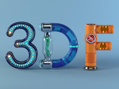 Animierte Typografie /3DF