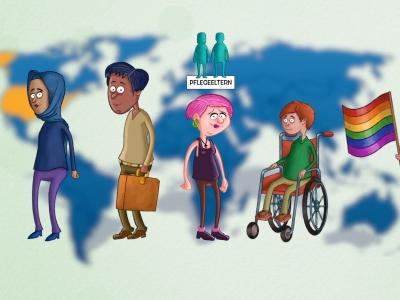 Erklärfilm / Deine Rechte – Ein Video für junge Menschen in Pflegefamilien